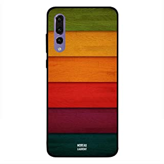 Huawei P20 Pro Case Cover Colorfull Multicolor Wooden Pattern