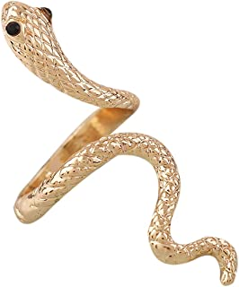 Argent plaqué ouverture ajustable serpent doigt animal bijoux femme cadeau