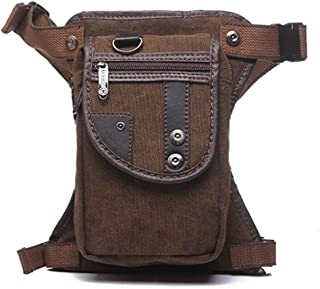 Outdoor Bag,Waist Bag,Drop Leg Bag,Thigh Backpacks, Motorcycle Costume Pouches,Brown Bag