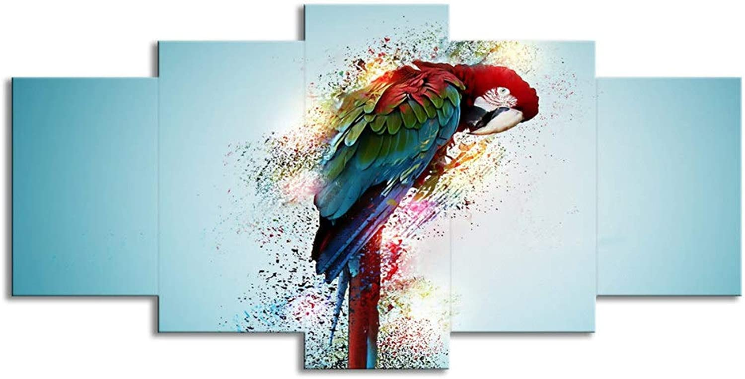 ChuangYing 5 Parred Green Winged Macaws Wall Sticker Living Room Decorative Green Butterfly Wall Art Wall Sticker