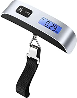 Nuluxi Luggage Scale Portable Digital Travel Suitcase Scales with Temperature Sensor, Tare Function, 50kg Electronic Balan...