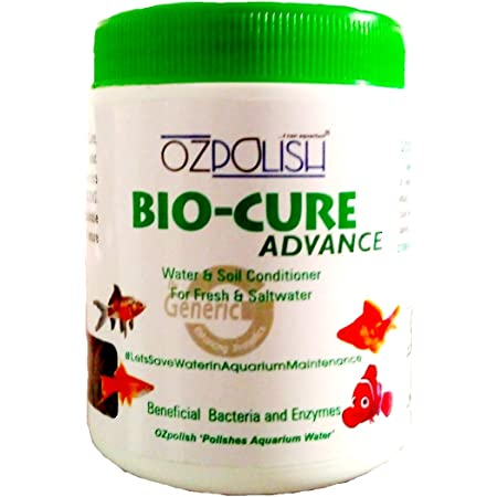 OZPOLISH Bio-Cure Advance by Aquatic Habitat | Aquarium Beneficial Bacteria | Deep Cleaner, Reduce Ammonia for Fish Tank/Pond and Aquaponics System | Freshwater and Saltwater (Dry; 100 g)