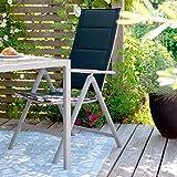 Vanage gepolsterter Gartenstuhl in schwarz – Klappstuhl im 2er Set für Garten, Terrasse und Balkon geeignet - 5