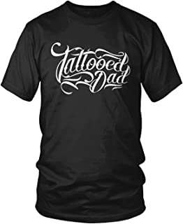 Amdesco Men's Tattooed Dad, Dad with Tattoos T-Shirt