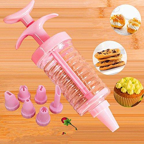 Bureze 8 pcs Cup Cake Cookie kit de décoration pour glaçage avec seringue Lot d'accessoires de buses