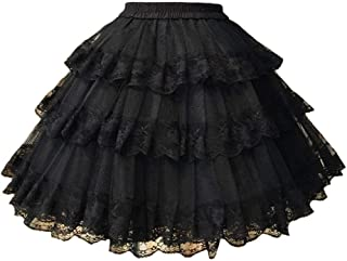 3-Layered Gothic Layered Ruffled Luxury Vintage Rockabilly Petticoat Crinoline Underskirt