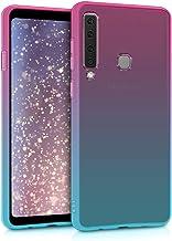 kwmobile Funda Compatible con Samsung Galaxy A9 (2018) - Carcasa de TPU y Bicolor en Rosa Fucsia/Azul/Transparente