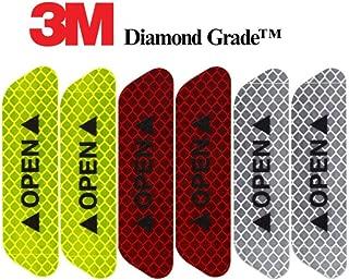 3M Reflective Diamond Grade DG3 Hi-Vis Waterproof Stickers 6-pcs Pack for Doors