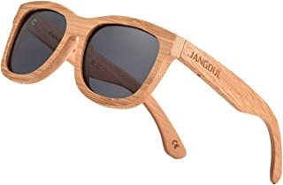 Polarized Sunglasses Carbonized Bamboo Frame For Men Women with Gift Box