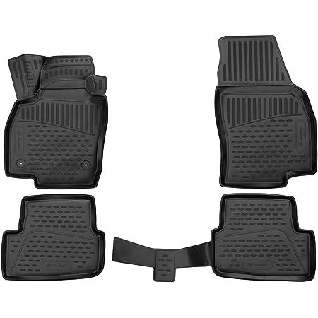 J/&J AUTOMOTIVE Tapis de Sol Noir Velours Compatible avec Seat Arona 2017-pr/és 4 pcs