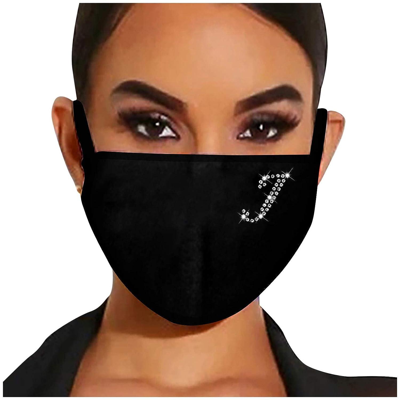 Xinantime Strass Mundschutz Multifunktionstuch 3D Gl/änzend Mund-Nasenschutz mit Motiv Glitzer Waschbar Wiederverwendbar Atmungsaktiv Baumwolle Halstuch Schals f/ür Damen Muster 1