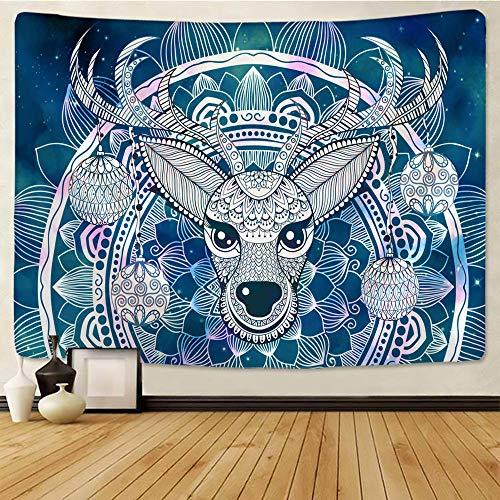 Lindo tapiz de renos navideños para colgar en la pared, colcha bohemia, manta para dormitorio, decoración del hogar, mantas mandalas poliéster tapiz