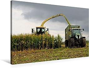 Lienzo de gran calidad, 90 cm x 60 cm, horizontal, imagen sobre bastidor, lienzo auténtico, impresión sobre lienzo, diseño de cortacésped en el uso de la maíz (CALVENDO Natur);Calvendo Natur
