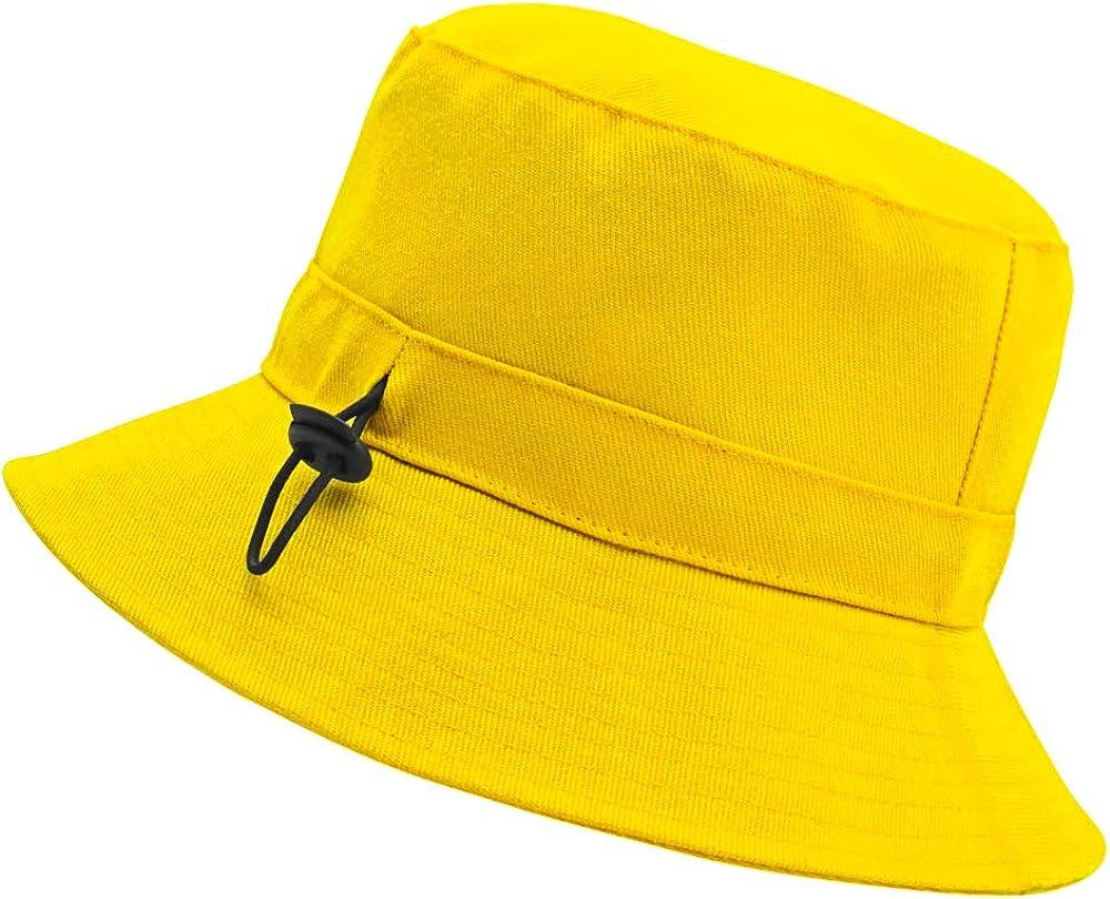 IWNTWY Unisex Bucket Hats, Cotton Summer Travel Beach Hat Fisherman Caps Outdoor Sun Cap for Teens Girls Boys Women & Men