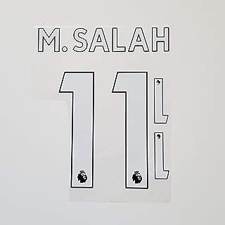 Liverpool 2019 2020 Mohamed Salah #11 Champions League Winner Iron On Lettering NameSet UEFA