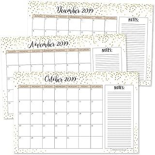 Best gold desk calendar Reviews