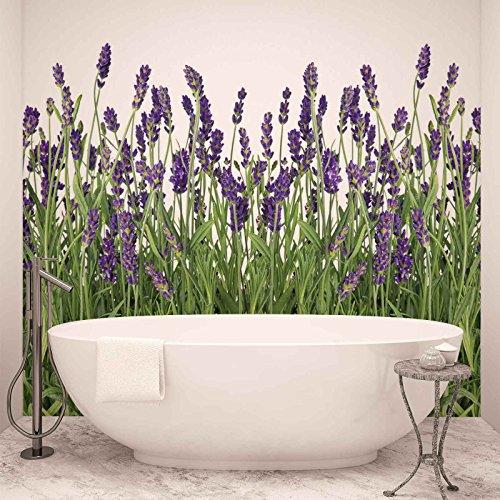 Blumen Lavendel - Forwall - Fototapete - Tapete - Fotomural - Mural Wandbild - (2174WM) - XXL - 312cm x 219cm - VLIES (EasyInstall) - 3 Pieces