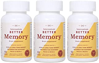 Interceuticals Better Memory - Theracurmin Curcumin 90 mg - Clinically Proven Dose, Improves...