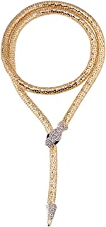 Naray Flexible Bendable Magnet Snake Jewelry Necklace Choker Bracelet Scarf Holder Bendy Chain Twistable Shap (Gold)