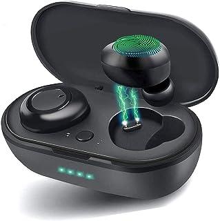 Auriculares Bluetooth 5.0 Auricular Inalámbrico Control Táctil con Graves Profundos In-Ear conPop-Ups Auto Pairing Caja de...