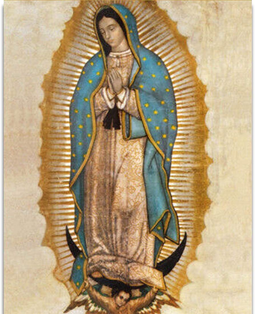 Earth Village Art Large art prints Home Decor Canvas Painting Wall Art virgen de guadalupe Posters and Prints Wall Pictures for Living Room Decorative Picture No Framed (40cmX50cmX1p)