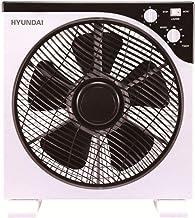 Hyundai Electrics Ventilador, Blanco/Negro, 30_cm