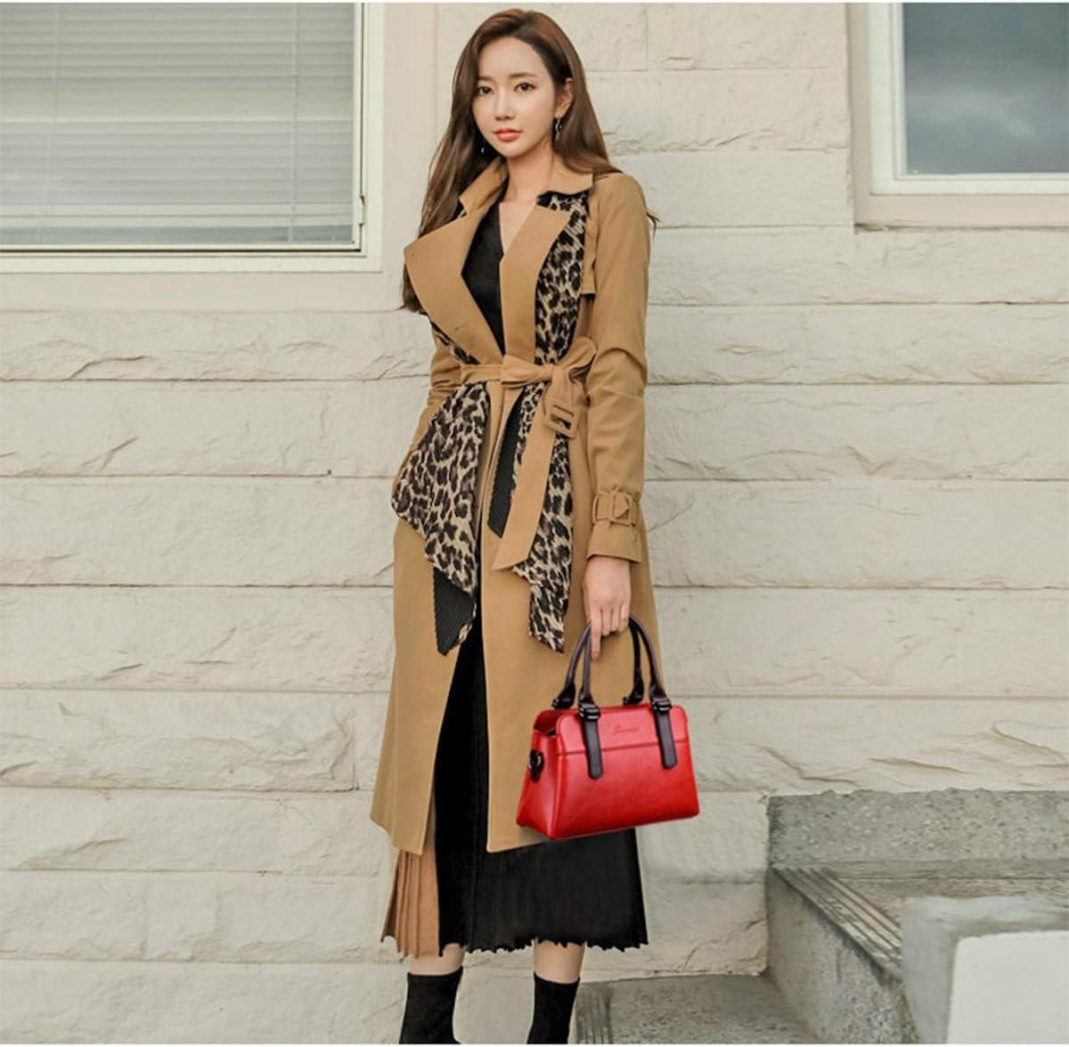 M3M Femmes Sacs à Main en Cuir Sac à bandoulière Sacs fourre-Tout Sacs Dames Designer Sacs Sac de poignée Haut Red