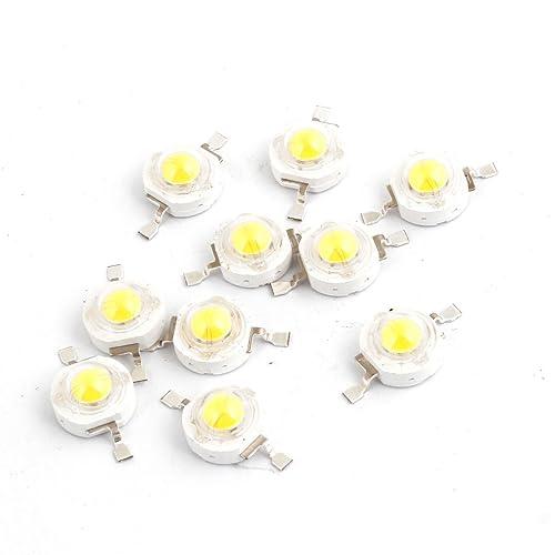 10 piezas 2 pin SMD 1 W 3,6 V luz blanca cálida Bombilla Luz