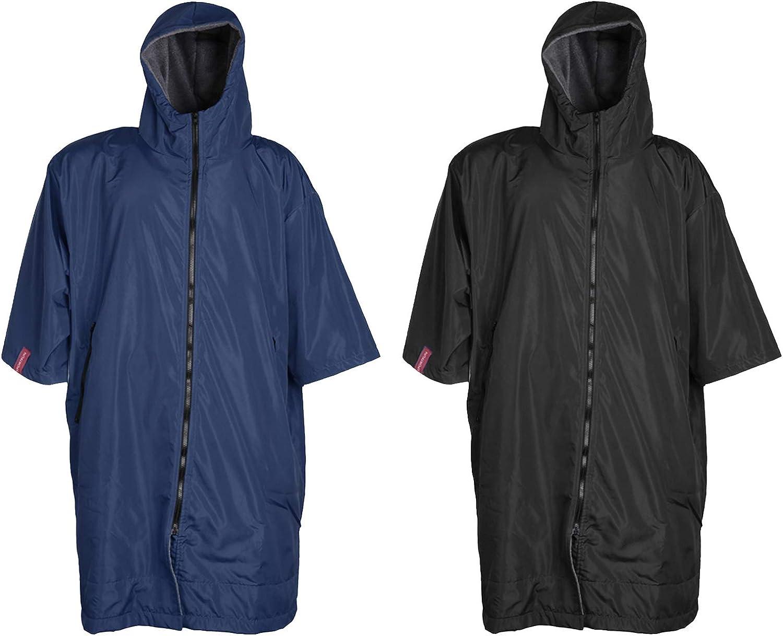 chiwanji 2 Changing Robe Jacket Windbreaker Fleece Lining Boating Anorak Poncho Women Men