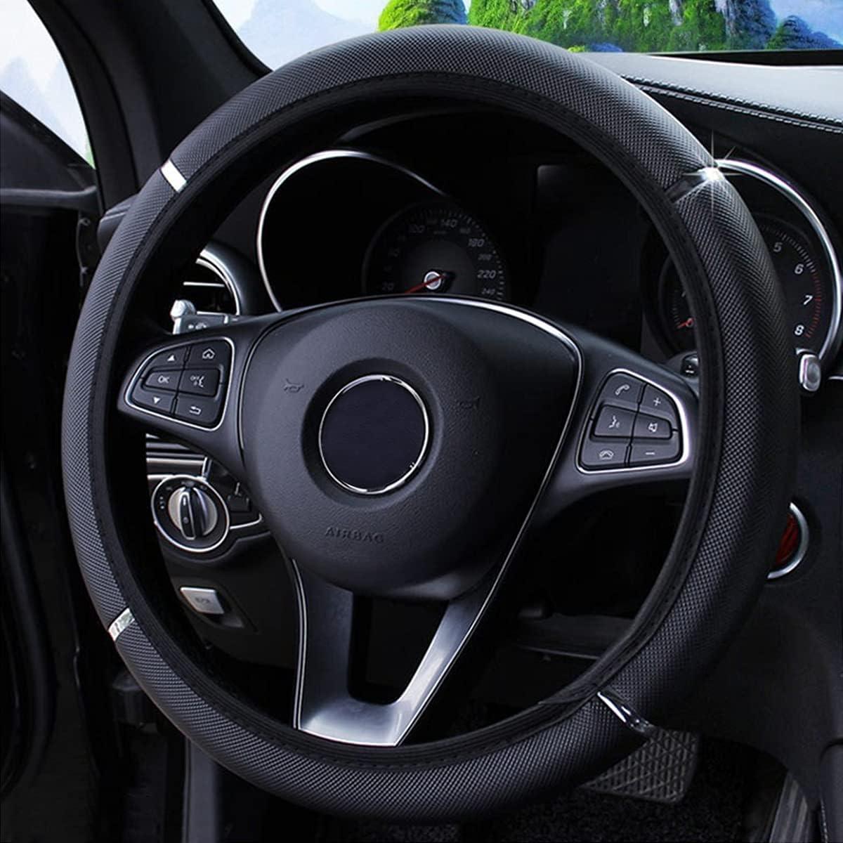 Car Steering Wheel Seasonal Wrap Introduction Cover Cove Oakland Mall Non-Slip Elastic