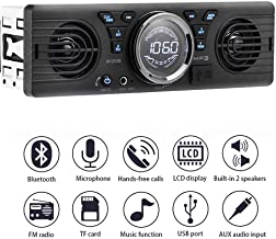 PolarLander Universal 1 Din 12V in-Dash Car Radio Audio Player Built-in 2 Speaker Stereo FM Support Bluetooth with USB/TF Card Port