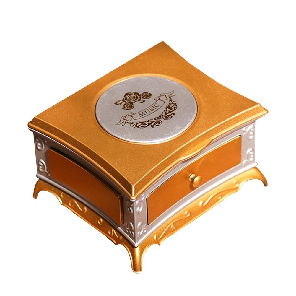 Vosarea Mesa de Vestir Caja de música Decorativa Miniatura Bailarina Caja de música rotativa para la decoración del Regalo de Las niñas de la niña (Plata Blanca): Amazon.es: Hogar