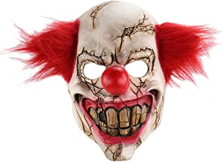 super1798 Latex Scary Clown Full Face Mask Halloween Costume Creepy Party Horror Props