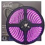 ぶーぶーマテリアル 色が綺麗なLEDテープ ピンク 600 LED 黒ベース 5m 12V 防水