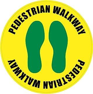 Safety Sign Wall Decal Vinyl Pedestrian Walkway Footprints Floor Sign Waterproof for Indoor & Outdoor Use 12