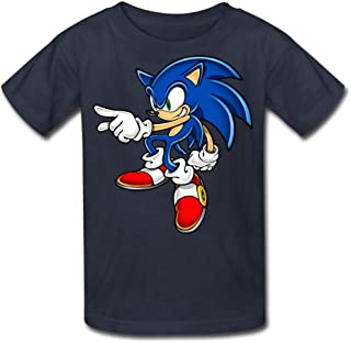 Kid's 100% Cotton Sonic Art Assets DVD Sonic The Hedgehog 16 Funny Quotes T-Shirt