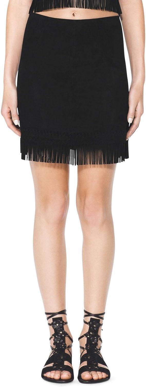 Tamara Mellon Chief Designer Suede Fringe Mini Skirt