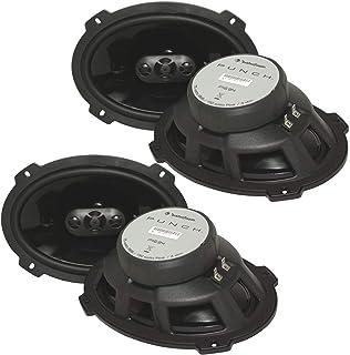 "$259 » (4) Rockford Fosgate P1694 600 Watt 6x9"" Punch Series 4-Way Car Audio Speakers - FlexFit basket design - OEM adapter plate..."