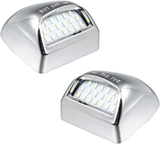 RUXIFEY Chrome LED License Plate Lights Lamp Compatible...