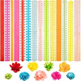 252 Pieces Paper Quilling Flower Quilling Art Strips DIY Flowers Petal Quilling Paper Strips Colorful Paper Quilling Patterns Tool for Handmade Art Crafts, 14 Types, 9 Colors
