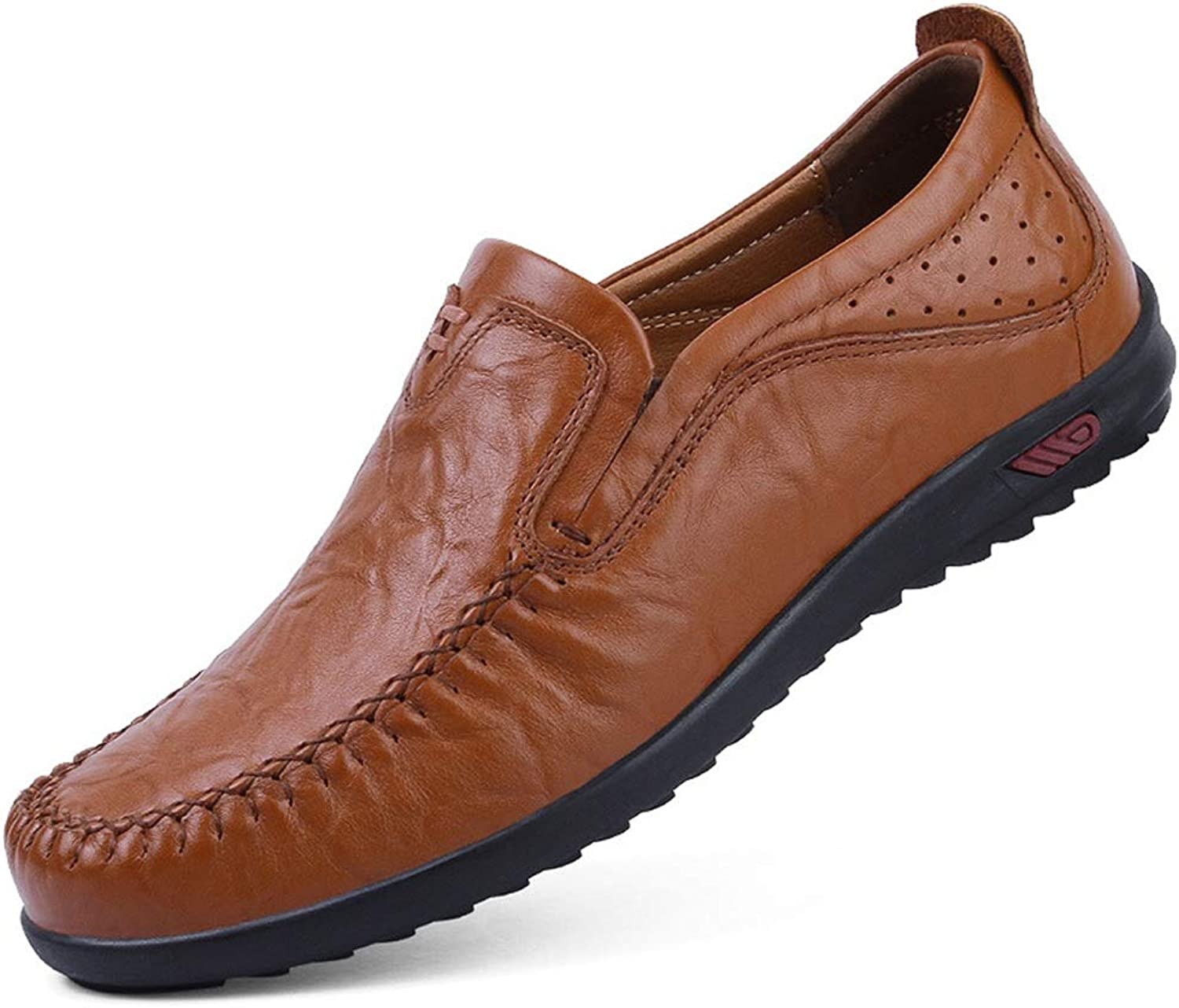 Moccasins Men's Leather Moccasin Loafers Driving shoes Comfort Slip-on Penny Loafers Moccasin-Gommino Casual Walking Boat shoes Casual
