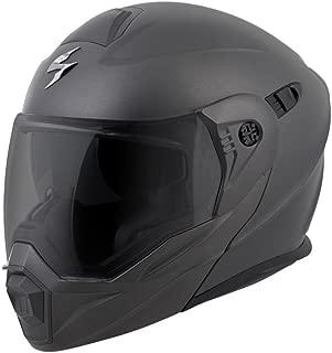 ScorpionEXO Unisex-Adult Modular/Flip Up Adventure Touring Motorcycle Helmet (Anthracite, X-Large) (EXO-AT950 Solid)