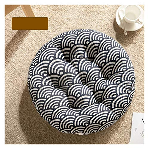 Chair Seat Pad Round Breathable Chair Pads, Tatami Seat Cushion Indoor Outdoor Premium Comfort Household Overstuffed Chair Cushions for Office Chair Lumbar Support Back Pillow