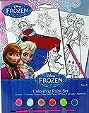 Set créatif coloriage avec aquarelles de la reine des neiges