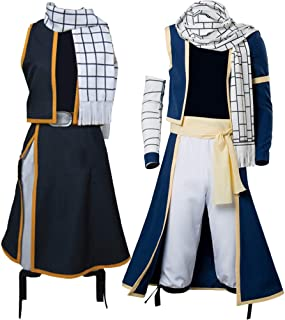 Cosplaysky Fairy Tail Natsu Costume Dragneel Cosplay Halloween Outfit Three Versions