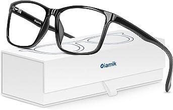 Oiamik Blue Light Blocking Glasses Men/Women Computer Glasses, Lightweight Eyeglasses Frame blocker blue ray Gaming Glasses,Anti Eye Strain, Headaches