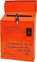 Vintage Retro Wall Mount Mailbox Mail Postbrief Krantendoos Waterdichte Vintage Retro Muurbevestiging (Kleur: Oranje)