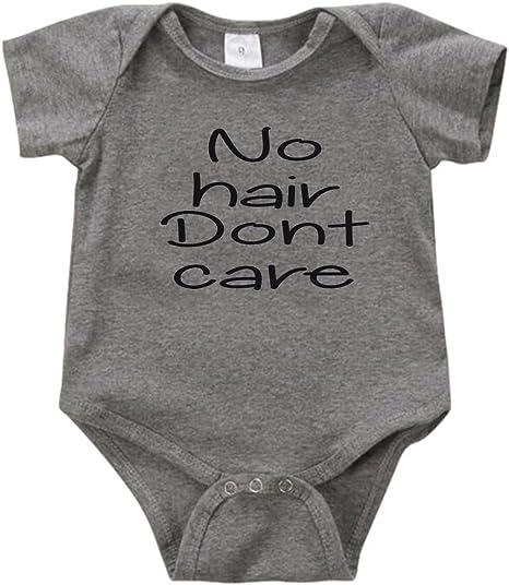 Gray No Hair Don/'t Care cotton and vinyl unisex baby onesiebodysuit black Custom colors. blue white pink aqua red
