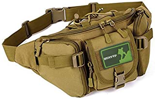 Huntvp Tactical Waist Pack Bag Military Fanny Packs WR Hip Belt Bag Pouch for Hiking Climbing Outdoor Bumbag