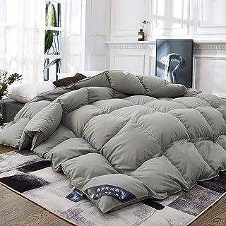 CHOU DAN Eiderdaunen Bettdecke 95% weiße Gänsedaunen Quilt Bettdecken für Zuhause Hotel Winter Warm King Bettwäsche Queen Size Bequeme Bettdecken Decke Full Twin-200 x 230 cm, 3,5 kg_Grau